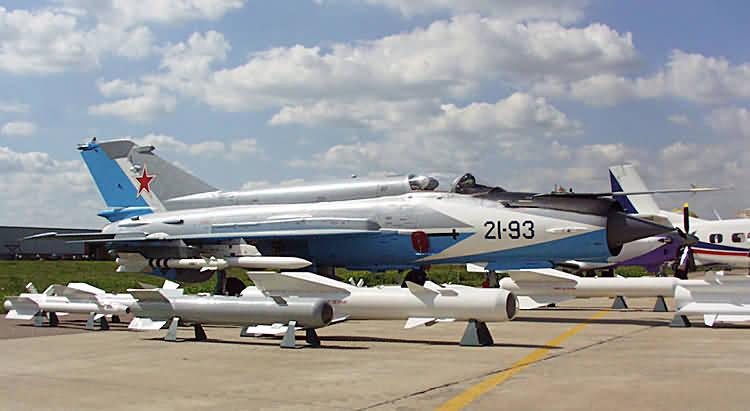 """俄罗斯 米格-21 """"鱼窝"""" Finshbed 战斗机"""