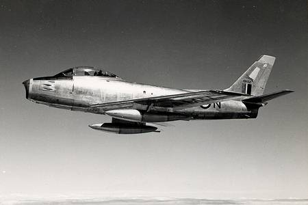 Canadair CL13 Sabre Mk2First Photograph